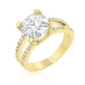 Double Band Cubic Zirconia Engagement Ring - Jewelry Xoxo