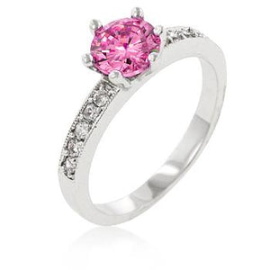 Petite Pink Engagement Ring - Jewelry Xoxo