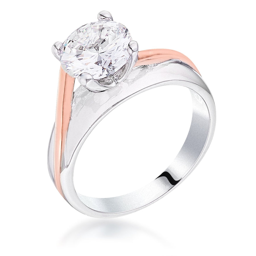 Two-tone Finish Solitaire Engagement Ring