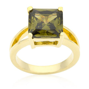 Olive Green Gypsy Ring - Jewelry Xoxo