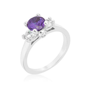Mini Amethyst Triplet Ring - Jewelry Xoxo