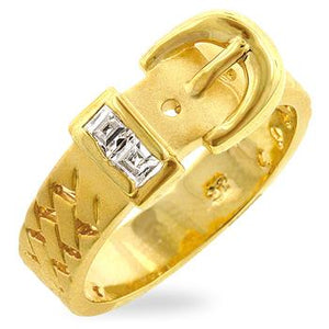 Golden Buckle Ring - Jewelry Xoxo