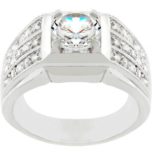 Rock Solid Cubic Zirconia Ring - Jewelry Xoxo