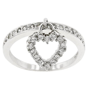 Simple Heart Charm Ring - Jewelry Xoxo