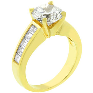 Classic Golden Engagement Ring - Jewelry Xoxo