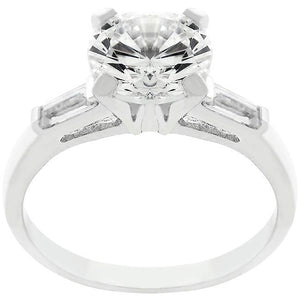 Classic Triple White Engagement Ring - Jewelry Xoxo