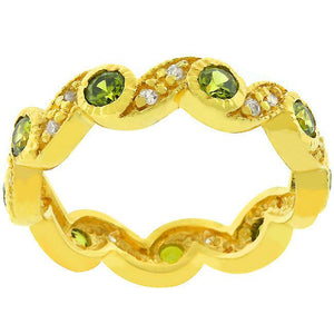 Olive Leaves Eternity Ring - Jewelry Xoxo