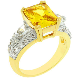 Yellow Cubic Zirconia Fashion Ring - Jewelry Xoxo