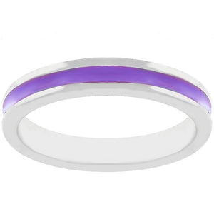 Purple Enamel Eternity Ring - Jewelry Xoxo