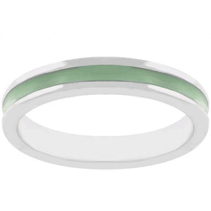 Light Green Enamel Eternity Ring - Jewelry Xoxo
