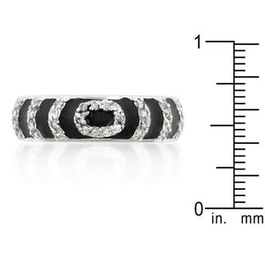 Black Ripple Ring - Jewelry Xoxo
