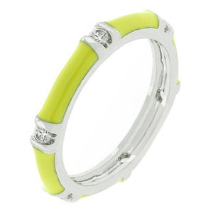 Yellow Enamel Stacker Ring - Jewelry Xoxo
