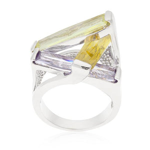 Crystalline Sculpture Cocktail Ring - Jewelry Xoxo