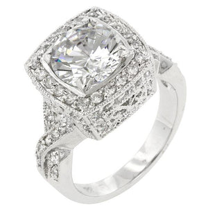 Palisades Classic Clear Ring - Jewelry Xoxo