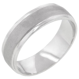 Classic Matte 6 MM Wedding Band - Jewelry Xoxo