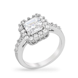 Pave Asscher Ring - Jewelry Xoxo