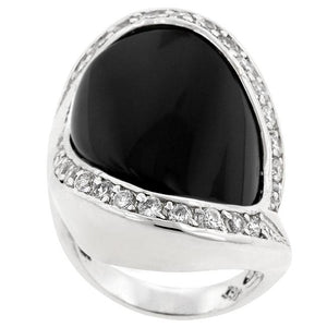 Pave Trim Onyx Ring - Jewelry Xoxo