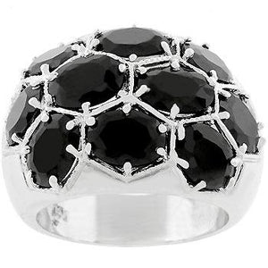 Midnight Dome Ring - Jewelry Xoxo
