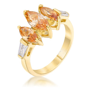 Triple Marquise Champagne Ring - Jewelry Xoxo