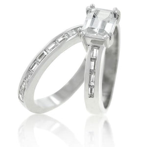 Princess Baguette Wedding Set