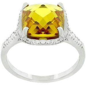Rose-Cut Canary Ring - Jewelry Xoxo