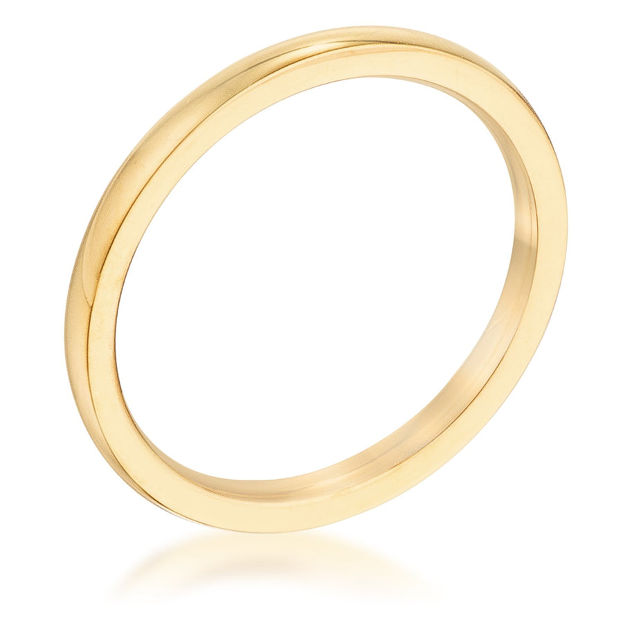 2 mm IPG Gold Stainless Steel Wedding Band - Jewelry Xoxo