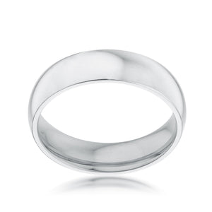 5 mm Stainless Wedding Band - Jewelry Xoxo