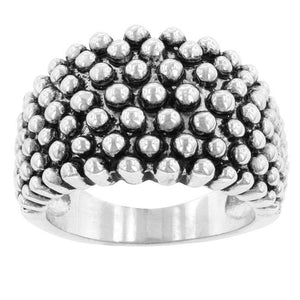 Studded Metal Ring - Jewelry Xoxo