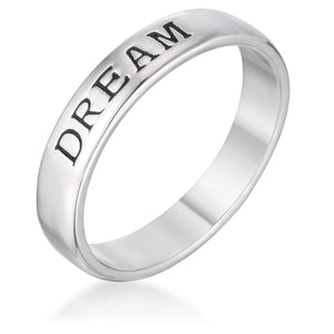 DREAM Rhodium Eternity Band - Jewelry Xoxo