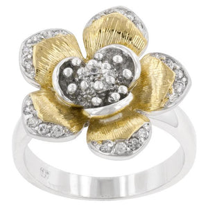 Golden Petals Cocktail Ring - Jewelry Xoxo