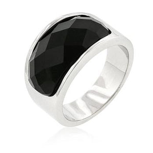 Onyx Block Cocktail Ring - Jewelry Xoxo