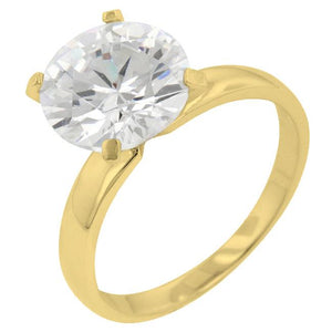 Timeless Gold Solitaire Engagement Ring - Jewelry Xoxo