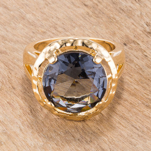 Smokey Cubic Zirconia Organic Ring - Jewelry Xoxo