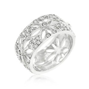 Crystal Floral Filigree Band - Jewelry Xoxo
