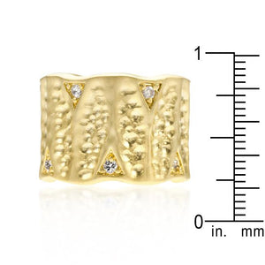 Textured Organic Matte Golden Eternity Ring - Jewelry Xoxo