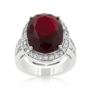 Ruby Red Cocktail Ring - Jewelry Xoxo