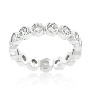 Linked Bezel Eternity Band - Jewelry Xoxo