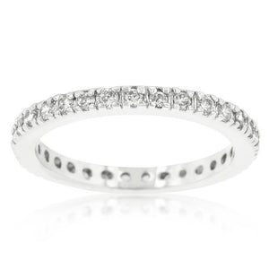 Delicate Cubic Zirconia Eternity Band - Jewelry Xoxo