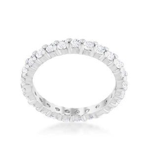 Cubic Zirconia Eternity Band - Jewelry Xoxo