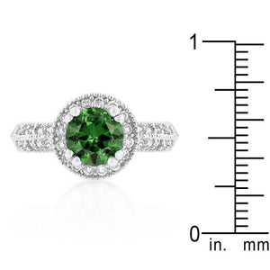 Emerald Halo Engagement Ring - Jewelry Xoxo