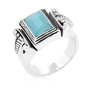 Blue Cats Eye Vintage Ring - Jewelry Xoxo
