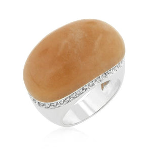 Carnelian Simulated Cocktail Ring - Jewelry Xoxo
