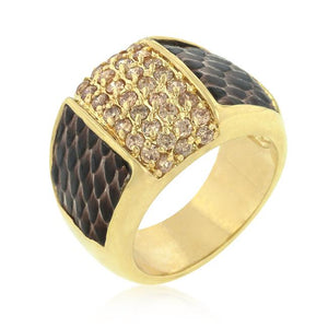 Pave Pink Snakeskin Ring - Jewelry Xoxo