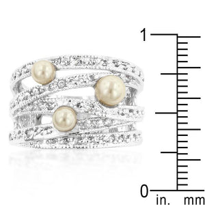 Champagne Pearl Cocktail Ring - Jewelry Xoxo