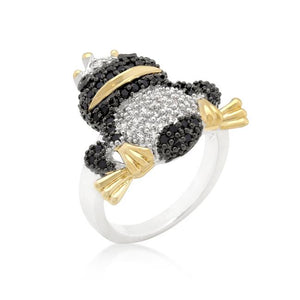 Cubic Zirconia Frog Prince Ring - Jewelry Xoxo
