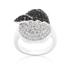 Black and White Cubic Zirconia Baby Chick Ring - Jewelry Xoxo