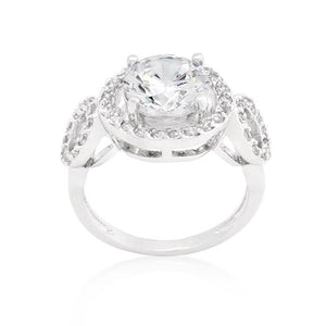 Round Cut Trio Cubic Zirconia Ring - Jewelry Xoxo