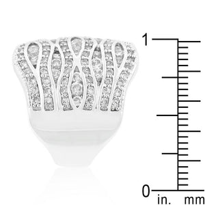 Cubic Zirconia Pave Abstract Ring - Jewelry Xoxo
