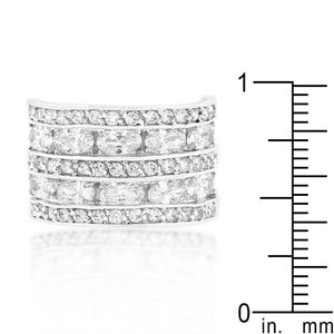 Cubic Zirconia Tiered Ring - Jewelry Xoxo