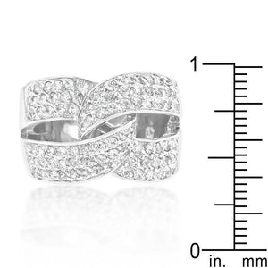 Cubic Zirconia Knot Ring - Jewelry Xoxo